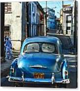 Metallic Blue And Santeria Canvas Print