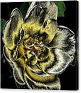 Metallic Rose Canvas Print
