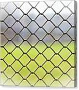 Metallic Wire Fence Canvas Print