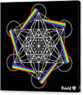 Metatron's Rainbow Healing Cube Canvas Print