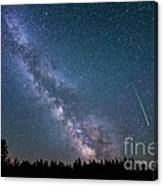 Meteor Milky Way  Canvas Print