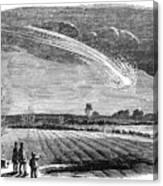 Meteor Observation Canvas Print