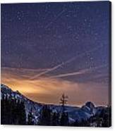 Night Skies Over Half Dome Canvas Print