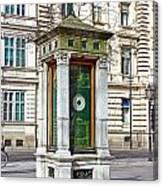 Meteorological Pole Zrinjevac Zagreb Canvas Print