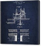 Method Of Drilling Wells Patent From 1906 - Navy Blue Canvas Print