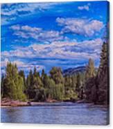 Methow River Crossing Canvas Print