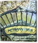 Metro Abbesses Canvas Print