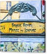 Metro Louvre Canvas Print