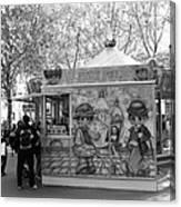 Metro Stop Snack Canvas Print