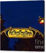 Metropolitain #1 Canvas Print