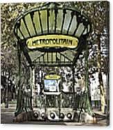 Metropolitain Entrance Paris Canvas Print