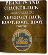 Mets Peanuts And Cracker Jack  Canvas Print