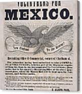 Mexican American War Flyer Canvas Print