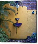 Mexican Courtyard Canvas Print