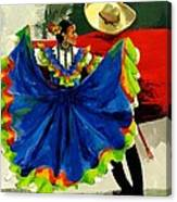 Mexican Dancers Canvas Print