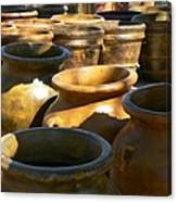 Mexican Pots Iv Canvas Print
