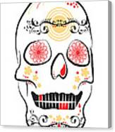 Mexican Sugar Skull For Dia De Los Muertos Canvas Print