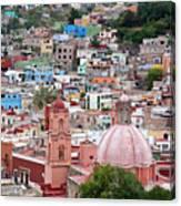 Mexico, Guanajuato, View Of Guanajuato Canvas Print