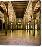 Mezquita Interior In Cordoba Canvas Print