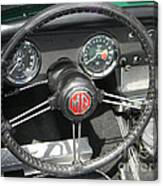 Mg Midget Instrument Panel Canvas Print