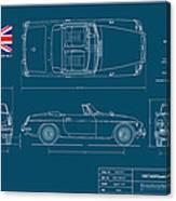 Mgb Mk.2 Roadster Canvas Print