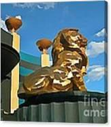 Mgm Lion In Las Vegas Canvas Print