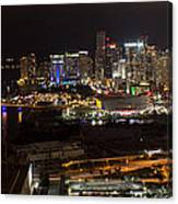 Miami After Dark II Skyline  Canvas Print