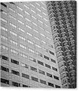 Miami Architecture Detail 1 - Black And White Canvas Print