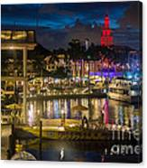 Miami Bayside And Freedom Tower Canvas Print