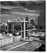 Miami Beach-0152bw Canvas Print