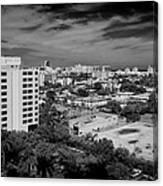 Miami Beach - 0153bw Canvas Print