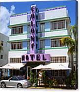 Miami Beach - Art Deco 37 Canvas Print