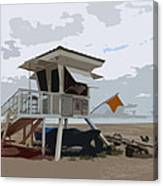 Miami Beach Lifeguard Station II Abstract Canvas Print