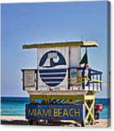 Miami Beach Lifeguard Station Canvas Print