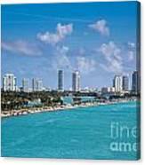 Miami Beach Skyline Canvas Print