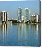Miami Brickell Skyline Canvas Print