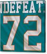 Miami Dolphins Undefeated Season Canvas Print