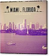 Miami Florida Canvas Print