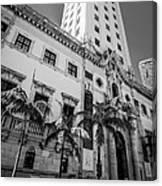 Miami Freedom Tower 1 - Miami - Florida - Black And White Canvas Print
