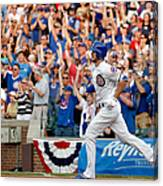 Miami Marlins V Chicago Cubs Canvas Print