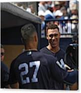Miami Marlins v New York Yankees Canvas Print