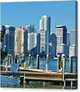 Miami On The Docks Canvas Print