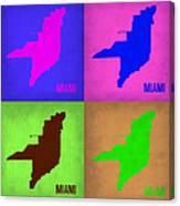 Miami Pop Art Map 1 Canvas Print
