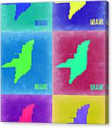 Miami Pop Art Map 3 Canvas Print