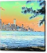 Miami Skyline Abstract II Canvas Print