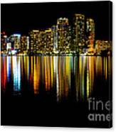 Miami Skyline II High Res Canvas Print