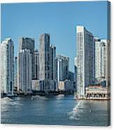 Miami Skyline, Miami-dade County Canvas Print