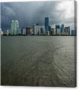 Miami Skyline Storm Canvas Print