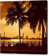 Miami South Beach Romance II Canvas Print