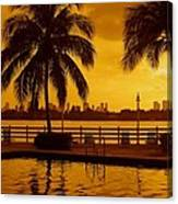 Miami South Beach Romance Canvas Print